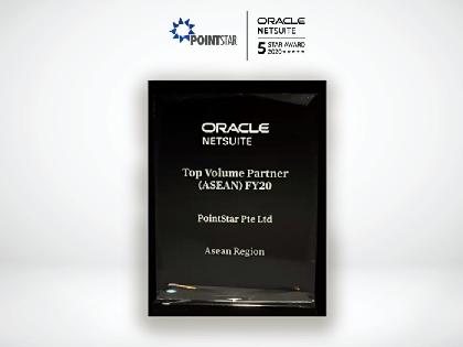 Oracle NetSuite's 2020 Asean Top Volume Partner