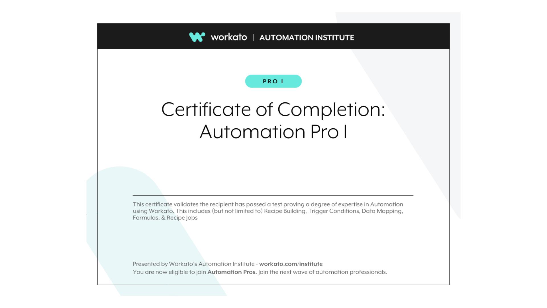 Workato Certification